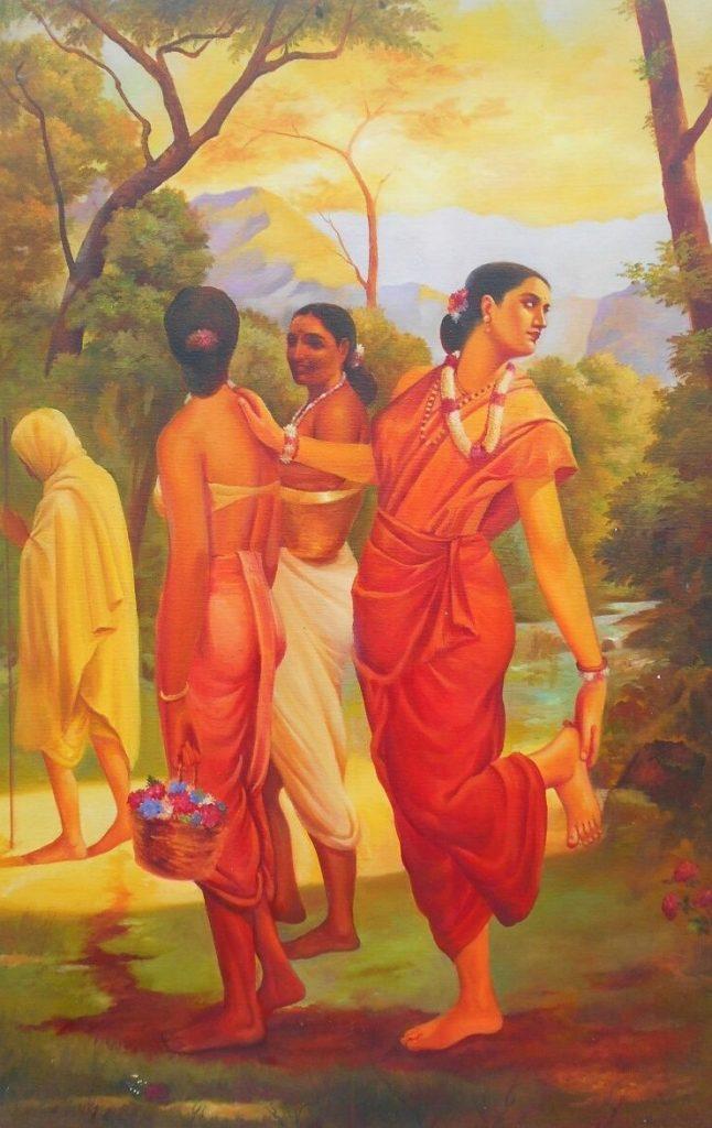 Raja Ravi Varma festménye: Sakuntalá