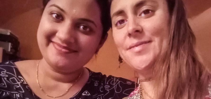 Dr. Neethu E.Mohan és Juliana Romero Radhastami
