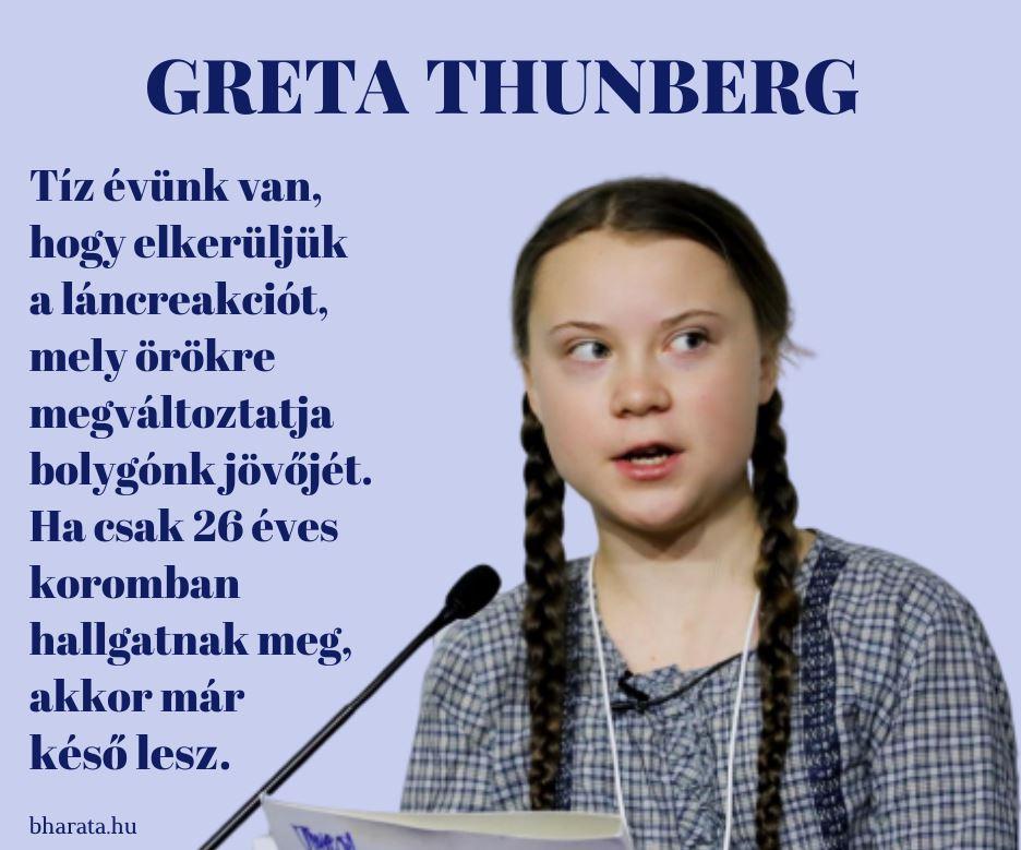 Greta Thunberg idézete