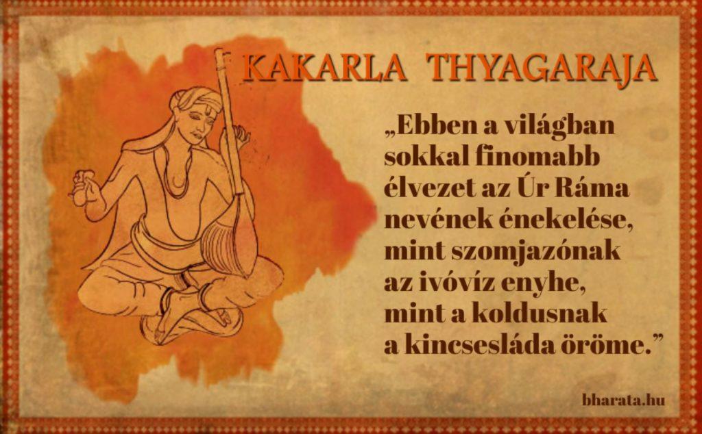 Kakarla Tyagiraj indiai zene idézet