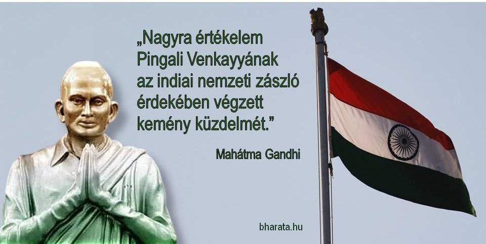 Indiai zászló idézet Gandhitól