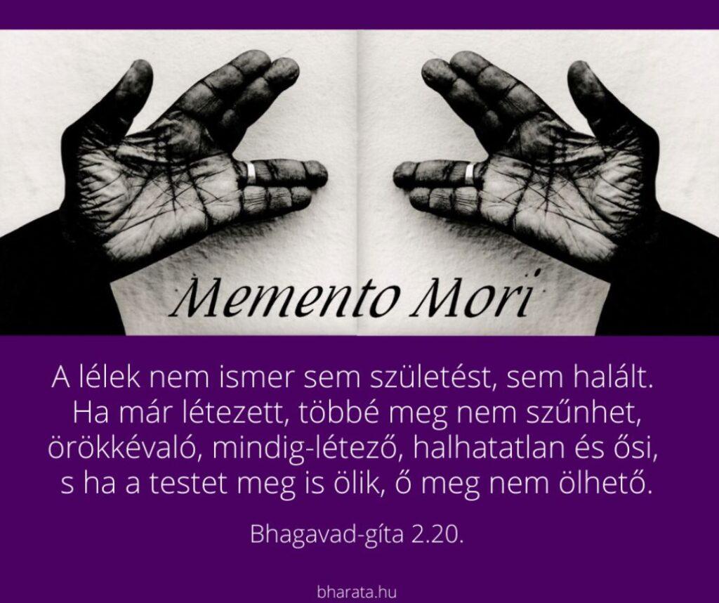 Nem csak Halál előtt emlékezni a halálra: Memento Mori